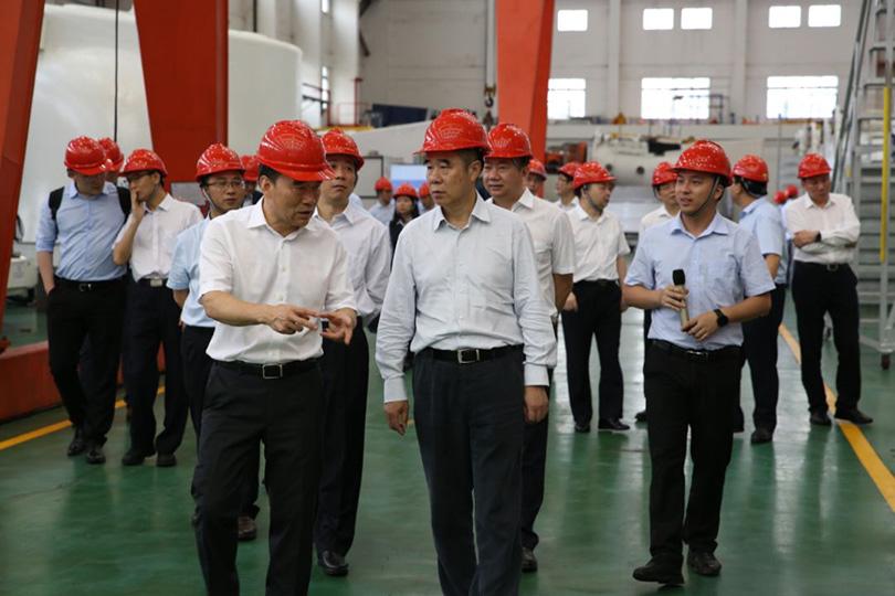 中国建立银行总行副行长章重生率队来明阳智能调研——携手谱写银企协作新华章